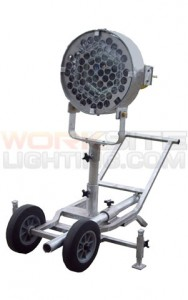 area light with cart